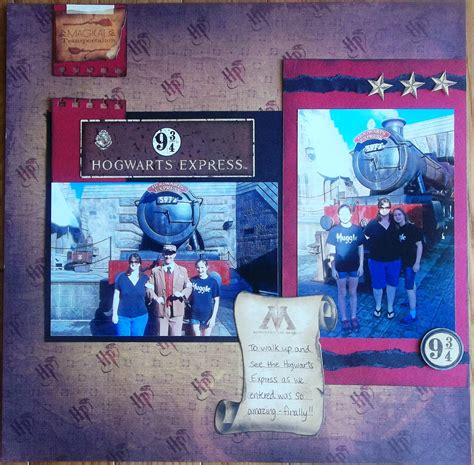 Project By Creative Imaginations by Layout Harry Potter Hogwarts Express Universal Studio S