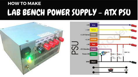 atx power supply to bench power supply diy lab bench power supply from atx psu youtube