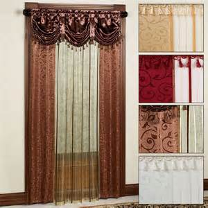 Sheer Curtains With Attached Valance Sheer Curtain Panel With Attached Valance