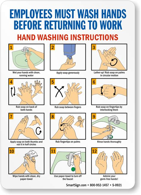 printable hand washing poster hand washing signs wash your hand sign employee