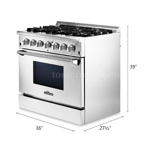Oven Gas Standing thor kitchen hrd3606u 36 quot 6 burner gas range electric oven free standing m2q2