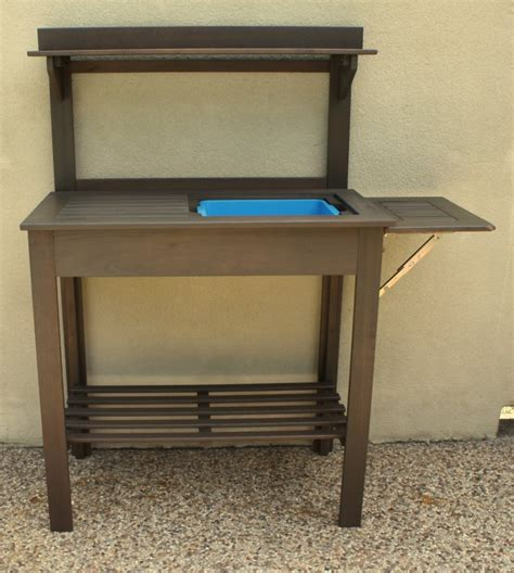potty bench potting bench turned outdoor bar