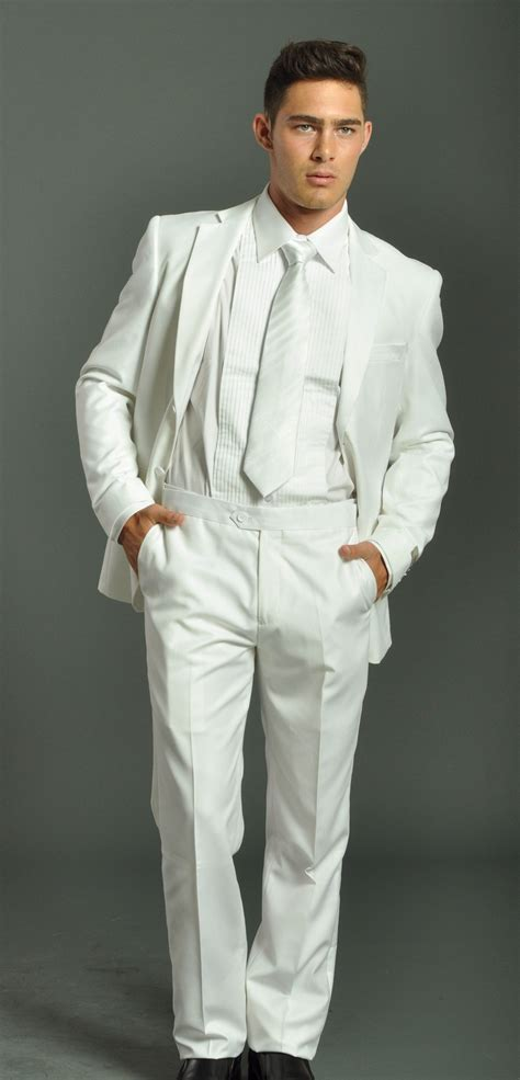 how to wear a white suit for your wedding brides men s two button solid white tuxedo suit men s suits