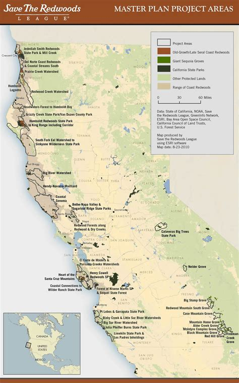 california map redwoods esri arcwatch october 2010 conserving earth s gentle giants