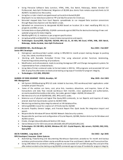 Series 6 Resume by Alex Montalvo Sr Iseries Pos Resume 1
