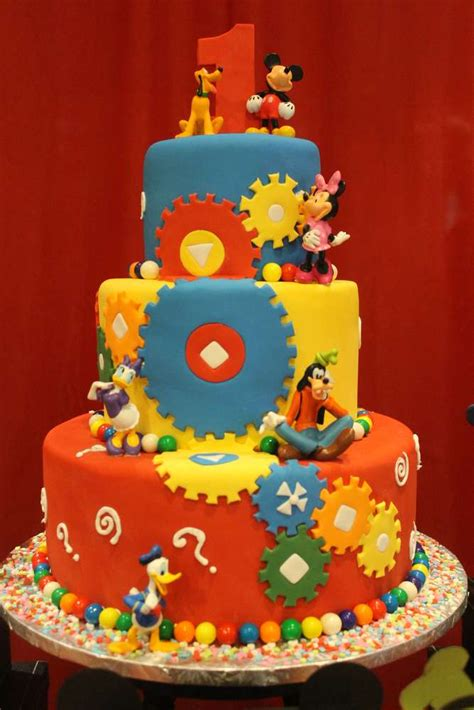 Mickey Mouse Clubhouse 1st Birthday Decorations by Mickey Mouse Clubhouse Birthday Ideas Photo 4 Of
