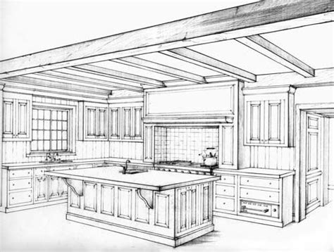 kitchen drawings kitchen perspective drawing 2 point perspective kitchen