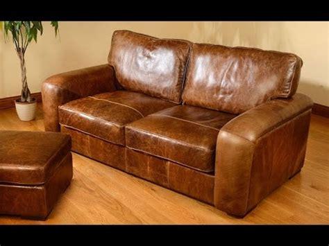 distressed leather sofa with nailhead trim uk