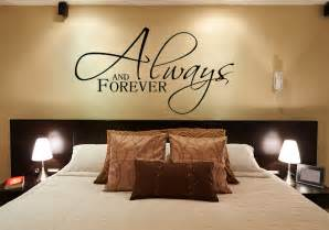 wall sticker bedroom always and forever wall decals for the bedroom wall
