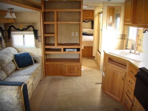 travel trailers bunk beds used 2006 jayco eagle 298bhs bunk travel trailer rv cer