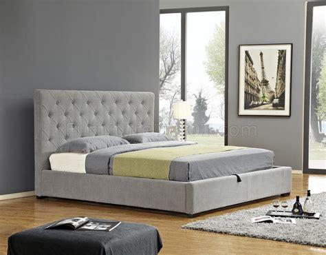 Prague Bedroom Furniture Prague Upholstered Storage Bed In Light Grey Fabrc By J M