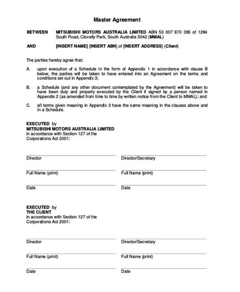 vehicle lease agreement 9 free pdf documents download