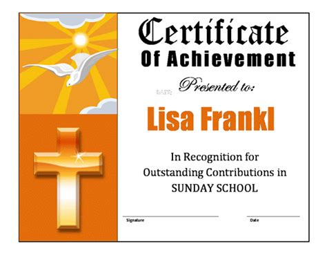church certificate templates church appreciation certificate template