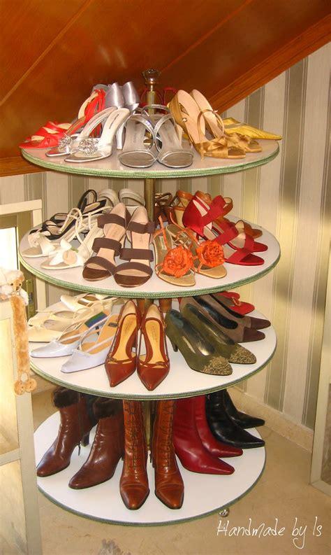diy lazy susan shoe storage handmadebyis zapatero giratorio