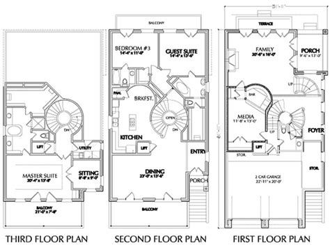 townhouse plans with garage 2014 three story townhouse sl dream home pinterest