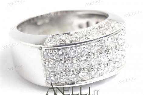 anello pave anello pav 232 diamanti 1 carato anelli it