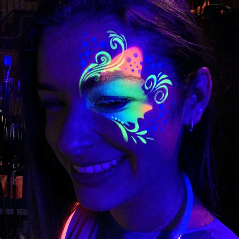 glow in the dark airbrush tattoo paint uv glow face painting chicago face painting awesome face