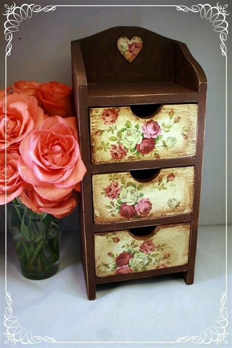 Decoupage Fabric On Wood Furniture - decoupage decoupage y transfer proyectos