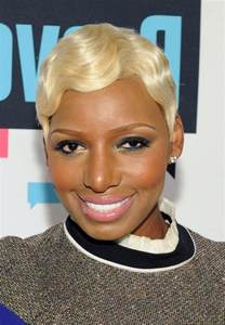 atlanta hair style wave up for black womens nene leakes short blonde finger wave hairstyle for black