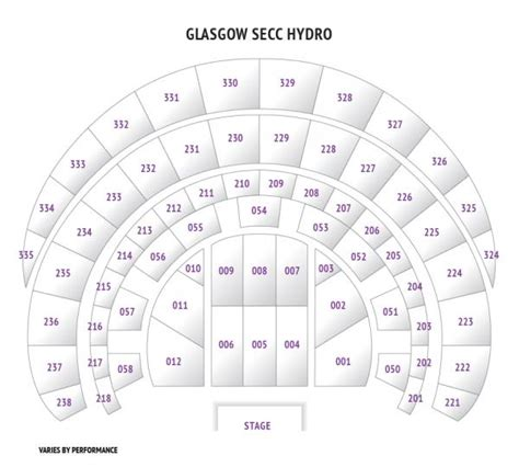 secc floor plan secc the hydro seat plan for strictly come dancing glasgow