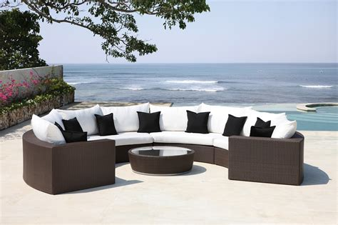 Half Circle Patio Furniture Malai Half Moon Lounger Luxury Wicker Furniture Outdoor Seating Garden Furniture Rattan