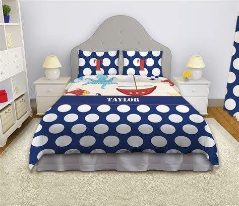 nautical bedding for boys nautical bedding bedding set sailboat comforter blue and white polka dots 4