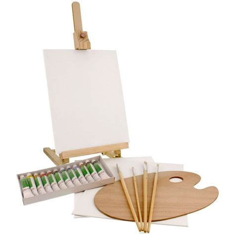 acrylic paint easel set us supply 21 acrylic painting set with table