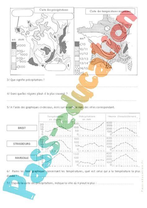 exercice diagramme ombrothermique pdf les climats en ce2 cm1 exercices pass education