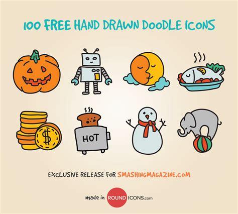 free doodle icon set 100 handsome doodle icons freebie smashing