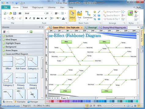 ishikawa diagram software cause and effect diagram software free exle