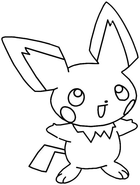 laughing pichu coloring page color luna
