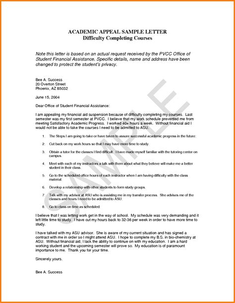 Letter Of Appeal Sle Template Learnhowtoloseweight Net Appeal Letter Template