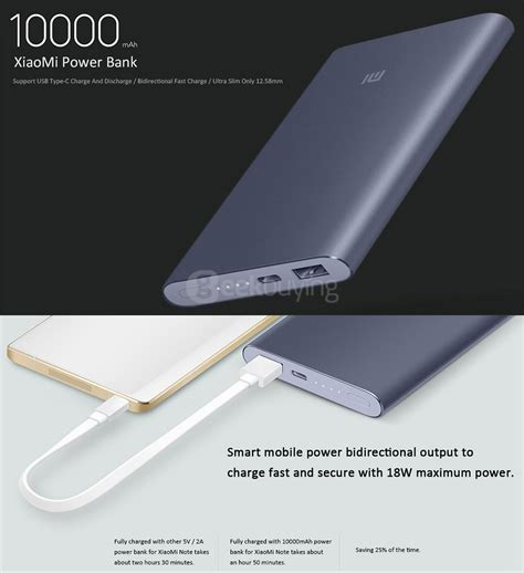 Termurah Xiaomi Power Bank Powerbank Pro 10000mah Usb Type C bundle original xiaomi mi pro 10000mah type c usb power bank gold