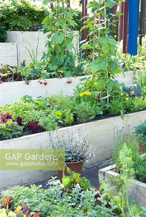 Gap Gardens Terraced Vegetable Garden With Raised Beds Vegetable Garden Silver