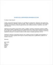 Recommendation Letter Professional Letter Exles
