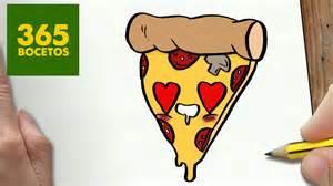 como dibujar pizza kawaii paso paso dibujos kawaii faciles draw pizza