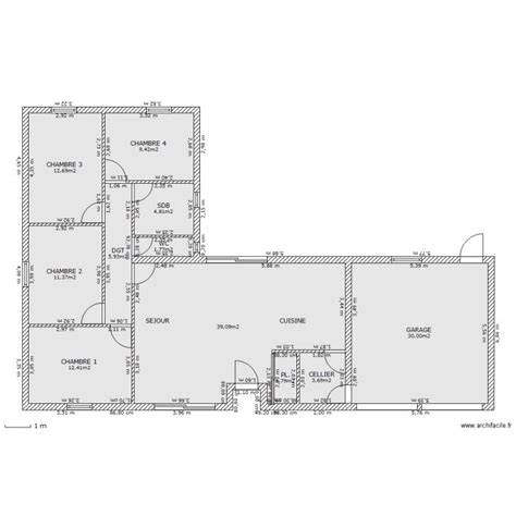 Maison En T Plain Pied by Plan Maison Plain Pied 140m2