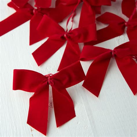 small red velvet bows small velvet bows craft supplies and winter crafts