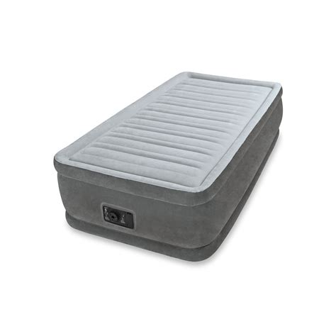 intex comfort intex dura beam elevated comfort twin airbed with built in