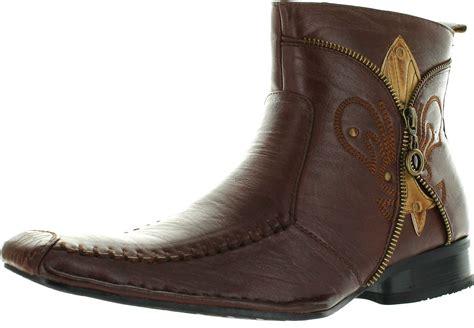 square toe dress boots for mens delli aldo m 668 black mens square toe dress ankle boots