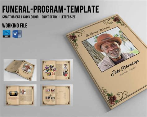 8 Funeral Booklet Templates Free Word Pdf Docs Download Free Template For Program Booklet