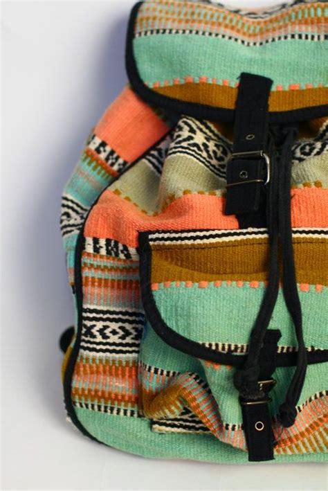 Backpack Blanket by Vintage Southwestern Backpack Woven Ethnic Blanket