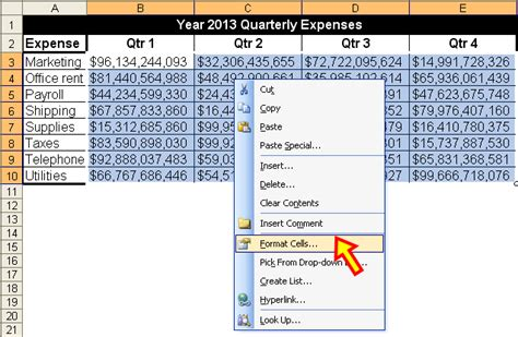 format excel numbers in thousands tom s tutorials for excel formatting numbers for