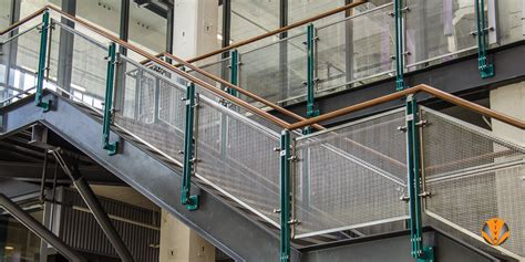 Stainless Steel Railing System Perforated Metal Railing Wexford 90 Building Viva