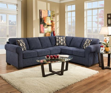 furniture blue velvet sectional sofa with patterned