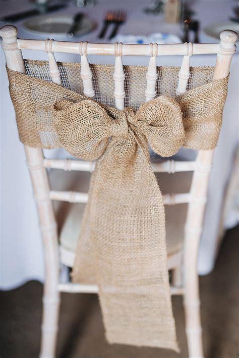 Wedding Chair Bows by Hessian Chair Decor Bow Pretty Blue Barn Wedding Sea South