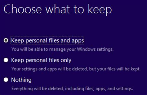 install windows 10 keep personal files only install windows 10 anniversary update on enterprise edition