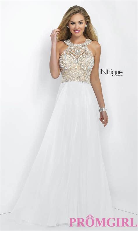 beaded prom dress white beaded prom dress promgirl