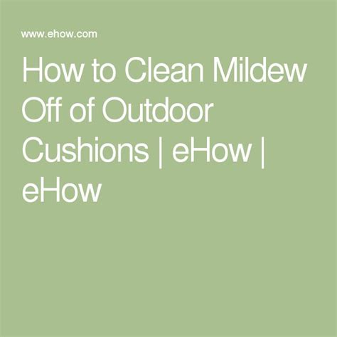 How To Remove Mold From Patio Cushions How To Clean Mildew Off Of Outdoor Cushions Outdoor