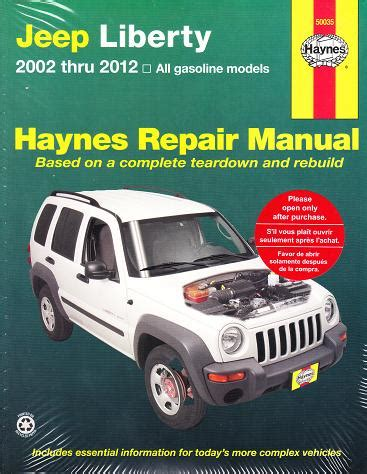 online car repair manuals free 2012 jeep grand cherokee user handbook 2002 2012 jeep liberty haynes repair manual